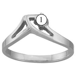 Picture of E. 1 to 5 Round GENUINE Stones Mother's Ring