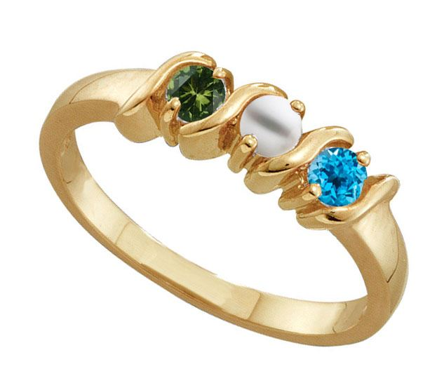 Picture of F. 2 to 6 Round GENUINE Stones Mother's Ring