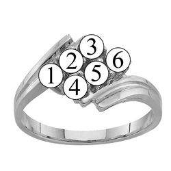 Picture of G. 2 to 7 Round SIMULATED Stones Mother's Ring