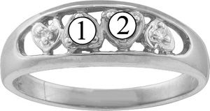 Picture of H. 2 to 6 Round SIMULATED Stones Mother's Ring