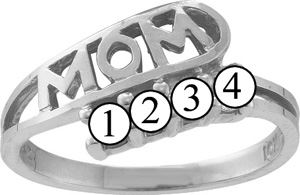 Picture of I. 2 to 6 Round GENUINE Stones Mother's Ring