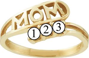 Picture of I. 2 to 6 Round SIMULATED Stones Mother's Ring
