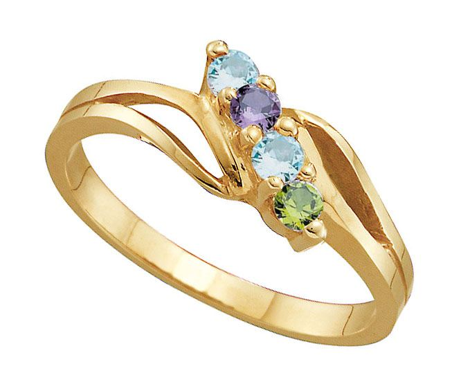 Picture of J. 2 to 7 Round GENUINE Stones Mother's Ring