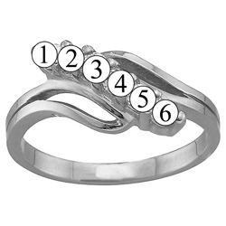 Picture of J. 2 to 7 Round SIMULATED Stones Mother's Ring