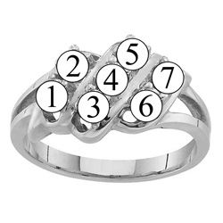 Picture of K. 2 to 7 Round GENUINE Stones Mother's Ring