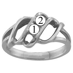 Picture of K. 2 to 7 Round SIMULATED Stones Mother's Ring