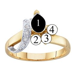 Picture of L. 2 to 7 Round SIMULATED Stones Mother's Ring