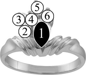 Picture of M. 2 to 8 Round GENUINE Stones Mother's Ring