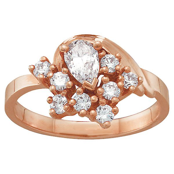Picture of N. 3 to 9 Round GENUINE Stones Mother's Ring