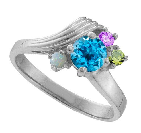 Picture of O. 2 to 9 Round SIMULATED Stones Mother's Ring