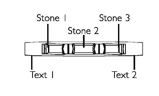 Picture of Triplet 3 Baguette Stones