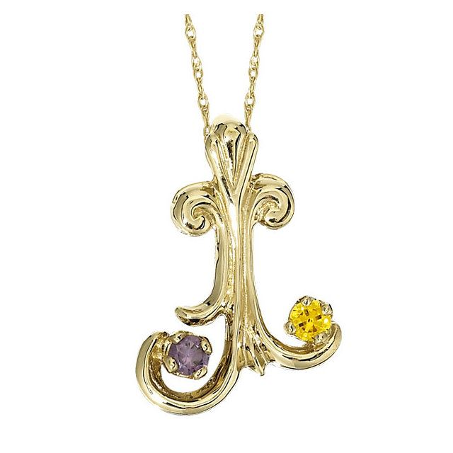 Picture of Silver 1 to 5 Round Stones Mother's Pendant