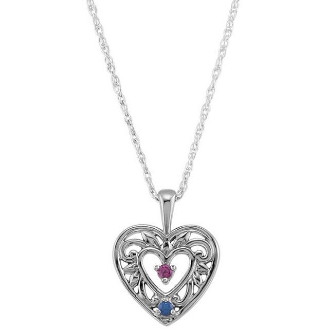 Picture of Silver 1 to 5 Stones Mother's Pendant