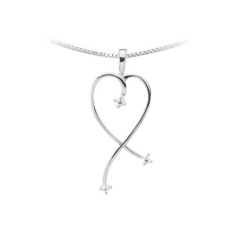 Picture of Silver 3 Stones Mother's Pendant
