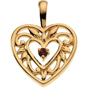 Picture of Gold 1 to 5 Stones Mother's Pendant
