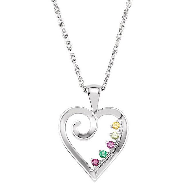 Picture of Gold 1 to 6 Stones Mother's Pendant