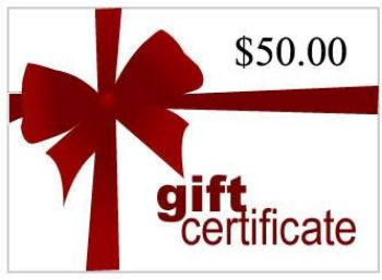 Picture of Gift Certificate for $50