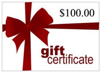 Picture of Gift Certificate for $100
