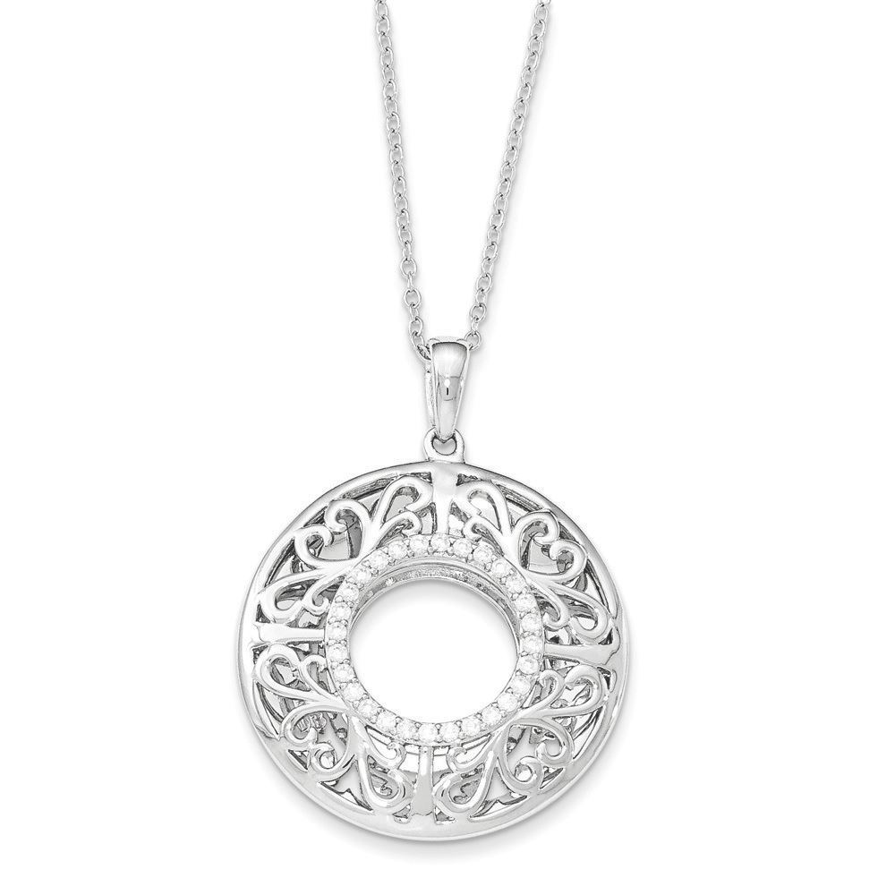 Picture of I Love You More Mother Two-Tone Silver Necklace