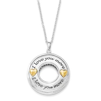 Picture of I Love You More Two-Tone Silver Necklace