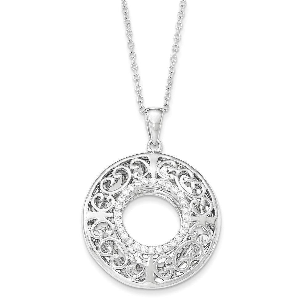 Picture of I Love You More Grandma Two-Tone Silver Necklace