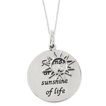 Picture of Friends Are The Sunshine Silver Pendant