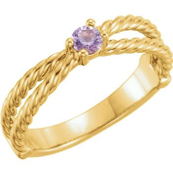 Picture of Gold 1 to 6 Round Stones Mother's Ring