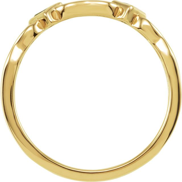 Picture of Gold 1 to 5 Square Stones Mother's Ring