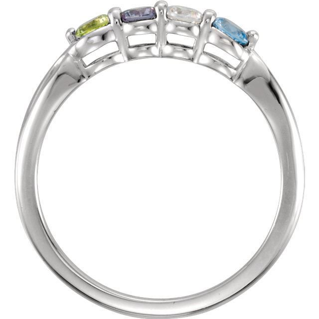 Picture of 14K Gold 1 to 5 Round Stones Mother's Ring