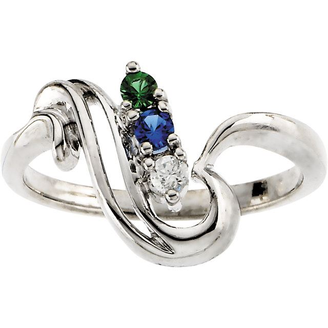 Picture of Gold 1 to 4 Stones Mother's Ring