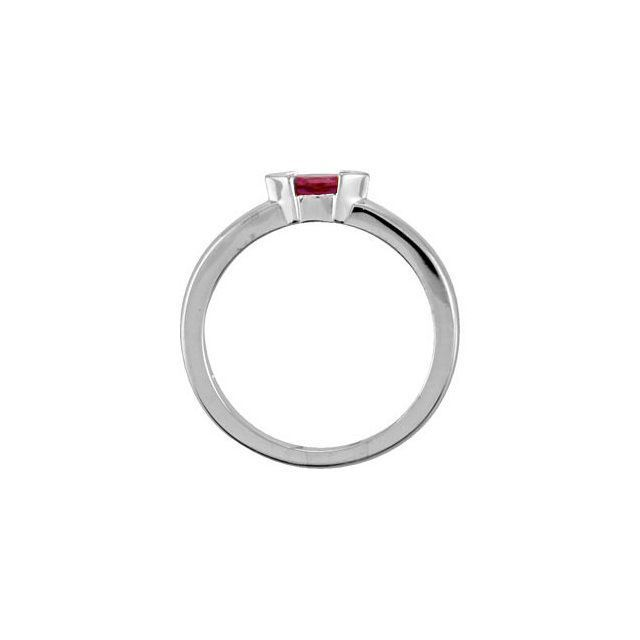 Picture of Gold 1 Marquise Stone Mother's Stackable Ring