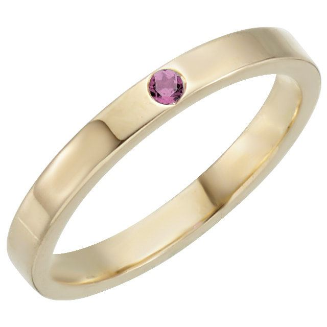 Picture of Gold 1 Stone Stackable Birthstone Ring