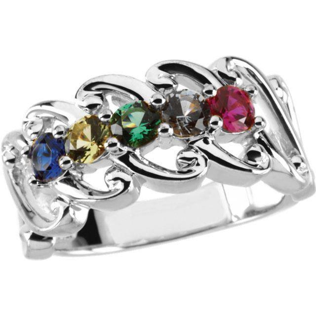 5 stone moms ring
