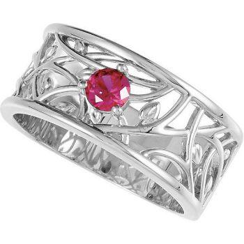 1 stone mom ring birthstone