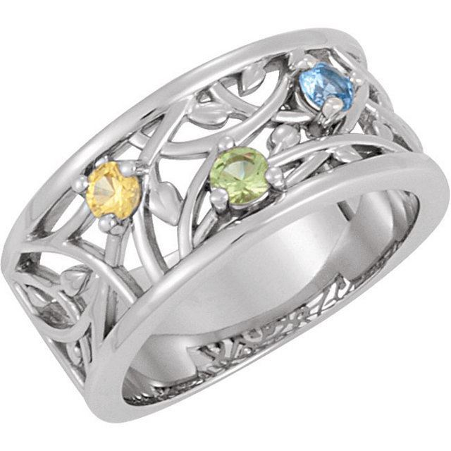 mother birthstone ring