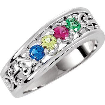 4 stone moms ring