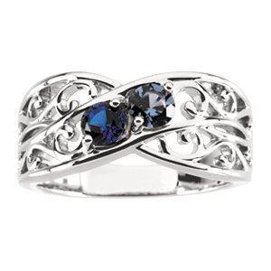 5 stones mom family ring