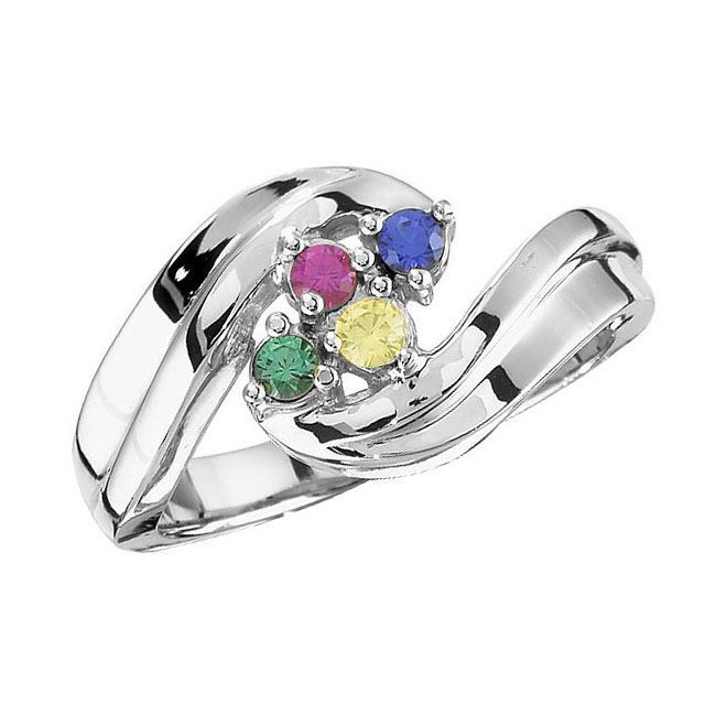 mother ring 4 stones