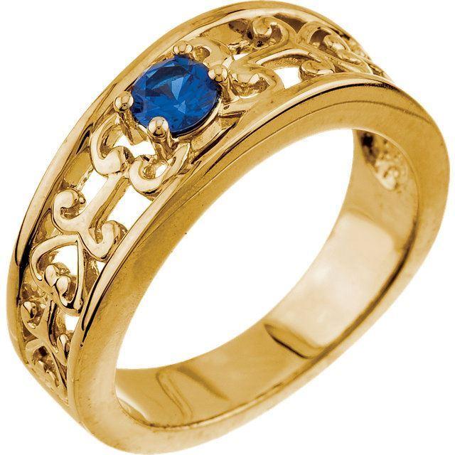 yellow gold birthstone ring