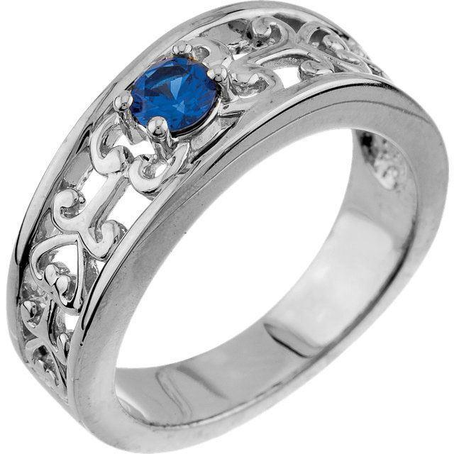 birthstone gold ring white gold