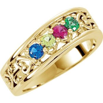 d60a4c8913792 Gold 4 to 5 Round Stones Mother's Ring