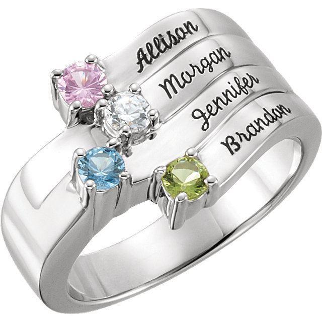 engraved family ring