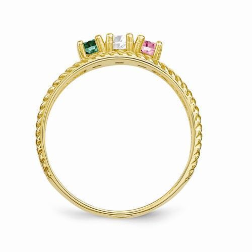 Picture of 14K Gold 1 to 8 Round Stones Mother's Ring