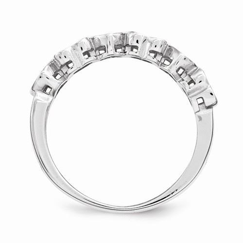 Picture of Silver 2 to 6 Round Stones Mother's Ring
