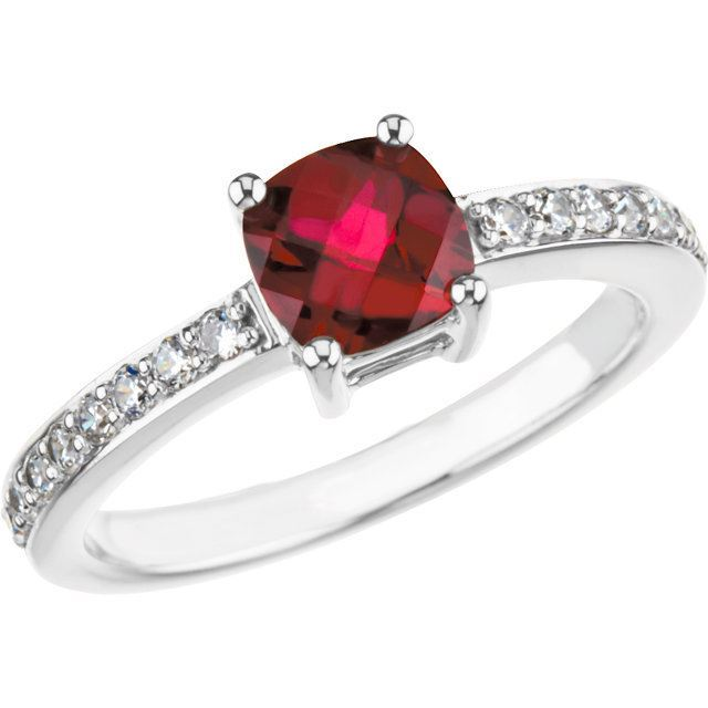 Picture of Silver 1 Antique Birthstone Ring