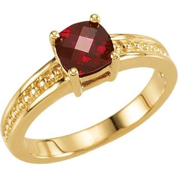 Picture of Gold 1 Antique Birthstone Ring