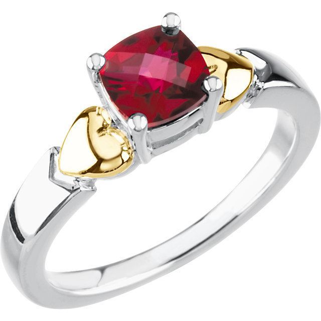 Picture of 14K & Silver 1 Antique Birthstone Ring