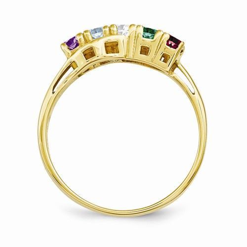 Picture of 14K Gold 1 to 6 Round Stones Mother's Ring