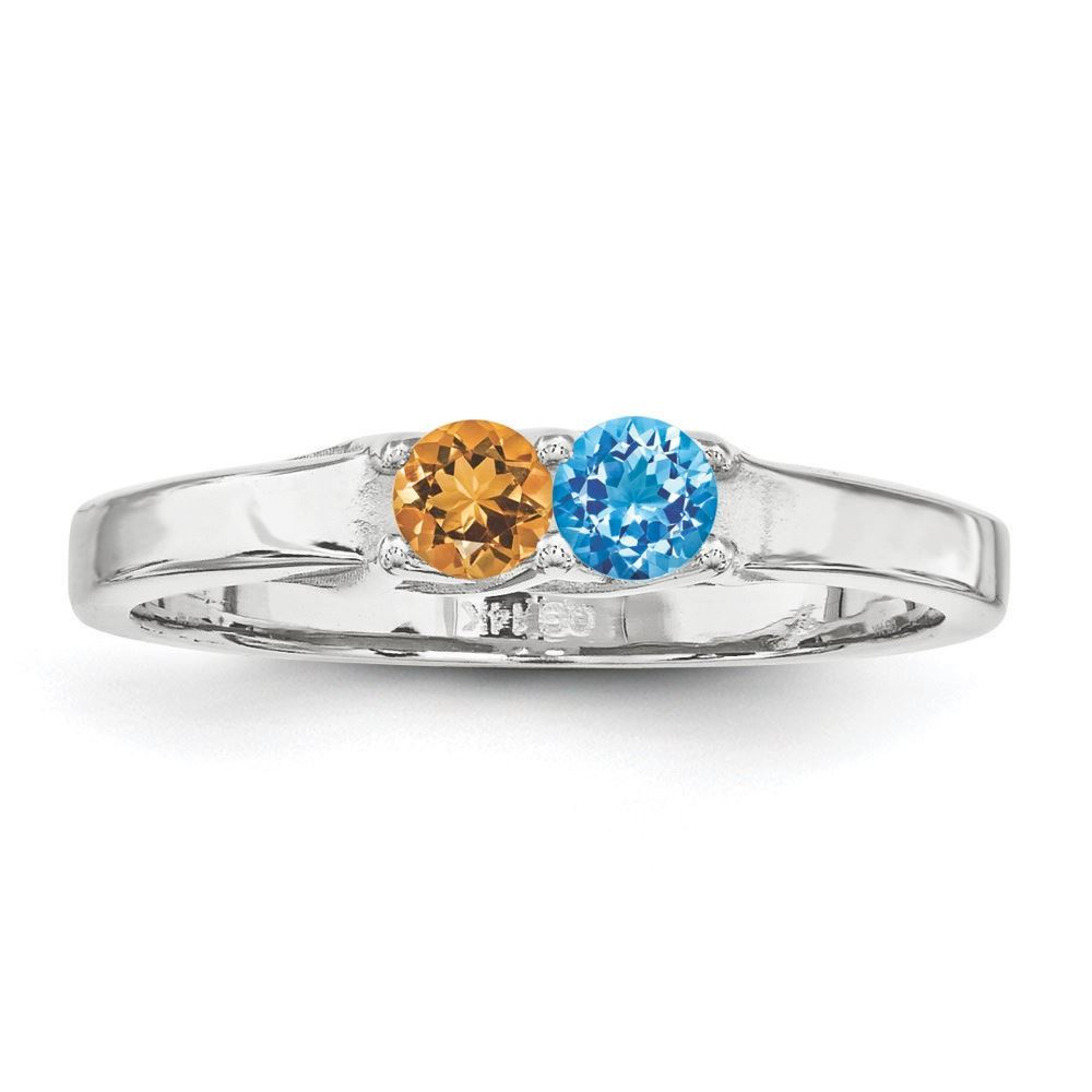 Picture of 14K Gold 2 to 6 Round Stones Mother's Ring