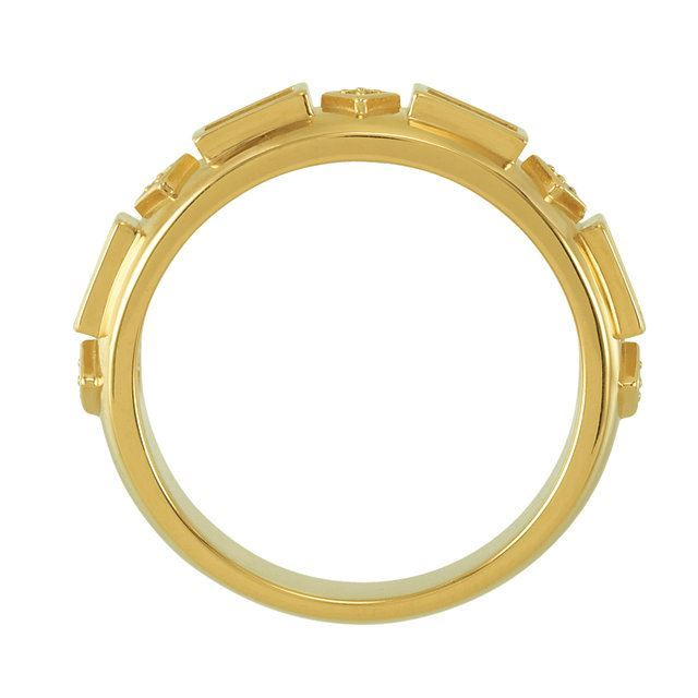 Picture of Gold 2 to 5 Baguette Stones Mother's Ring